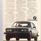 BMW vintage magazine advertisement
