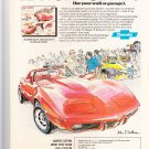 Vintage Chevy Corvette Magazine Advertisement
