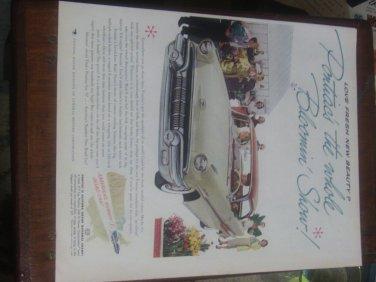 1957 ad Pontiac Car Red & Creme Color Hard Top motor vehicle vintage Print Ad