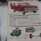 1962 Ford F-100 Pickup Truck original vintage advertisement.