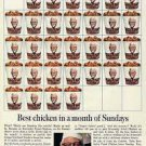 1967 Colonel Sanders Photo Kentucky Fried Chicken Print Ad