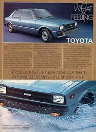 1980 TOYOTA COROlLA TERCEL advertisement, Toyota Corolla 2-door