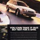 Subaru Outback Magazine Advertisement