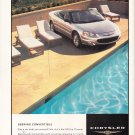 Chrysler Sebring Convertible Magazine Advertisement