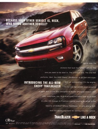 Chevy Trailblazer Magazine Advertisement