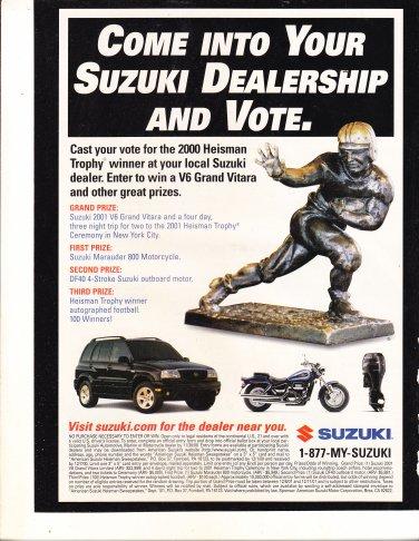 Suzuki Heisman Trophy Winner Magazine Advertisement