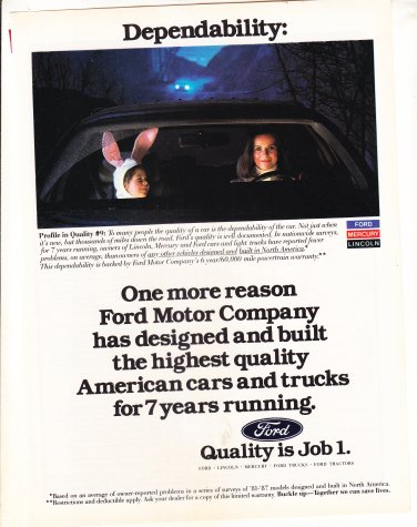 Ford Quality Job 1 - Dependability