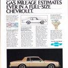 Vintage 1980 Chevrolet Magazine Advertising