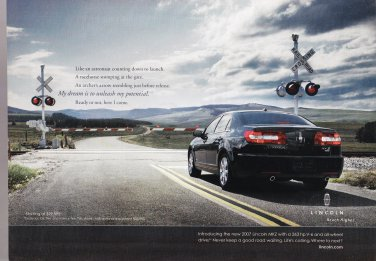 Lincoln Continental Reach Higher Magazine Advertisement