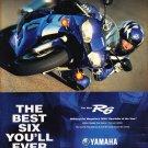 Yamaha Motorcycle R6 Magazine Advertisement