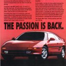 Toyota MR2 Magazine Advertisement The Passion is Back