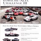 Porsche Alfa Challenge III Magazine Advertisement