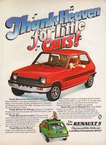 Vintage Renault 5 Magazine Advertisement