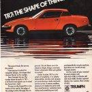 Vintage Triumph TR7 Magazine Advertisement