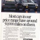 Vintage Hyundai Magazine Advertisement