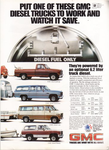 Vintage GMC Magazine Advertisement