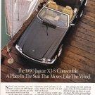 Jaguar XJ-S Vintage Magazine Advertisement