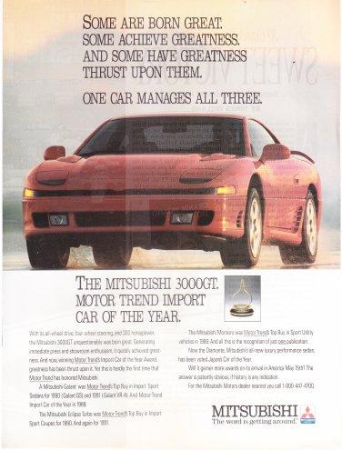 Mitsubishi 3000 GT  magazine advertisement