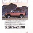 Isuzu Trooper Magazine Advertisement