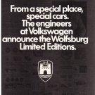 VW Wolfsburg Limited Magazine Advertisement