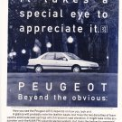 Peugeot 405 Beyond the obvious magazine Advertisement
