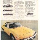 Fiat Vintage Magazine Advertisement