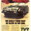 TVR Vintage Magazine Advertisement (rare)