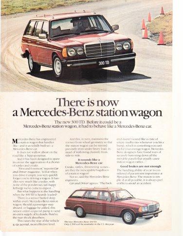 Mercedes Benz Station Wagon Vintage Magazine Advertisement