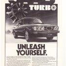 Saab Turbo Vintage Magazine Advertisement