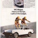 MG Midget Vintage Magazine Advertisement
