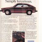 Honda Accord LX Vintage Car Magazine Advertisement