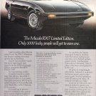 Mazda RX 7 Vintage Magazine Advertisement