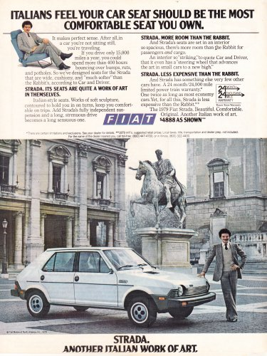 Fiat Strada Vintage Magazine Advertisement