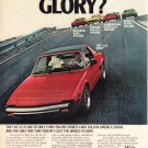Fiat X1/9 Vintage Magazine Advertisement