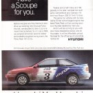 Hyundai Scoupe Vintage Magazine Advertisement