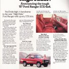 Ford Ranger Vintage Magazine Advertisement