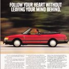 Saab Convertibles Advertisement Vintage Magazine AD