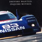 Nissan Advertisement Sports Car Drivers wanted