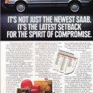 Saab 9000 Advertisement vintage magazine ad
