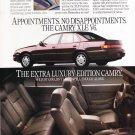 Toyota Camry XLE Ad vintage magazine advertisement