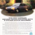 VW Passat GL Vintage Magazine Advertisement