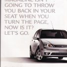 Ford Focus Ad vintage magazine advertisement
