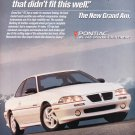 Pontiac Gran Am Ad vintage magazine advertisement