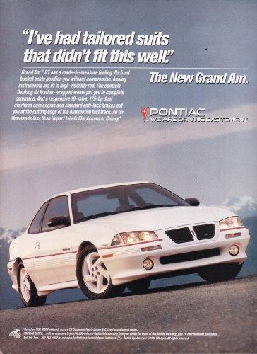 Pontiac Gran Am Ad vintage magazine advertisement