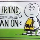 "SNOOPY & CHARLIE BROWN METAL WALL SIGN ""A FRIEND IS SOMEONE YOU CAN LEAN ON"""
