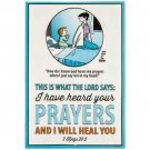 I Have Heard Your Prayers Family Circus Embossed Tin Sign