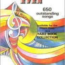 First Time Ever: 650 Outstanding Songs Fake Book