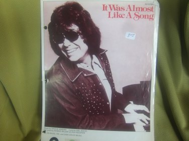 It Was Almost Like a Song sheet music by Ronnie Milsap