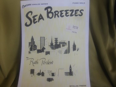 Sea Breezes - By Ruth Perdew Sheet Music.