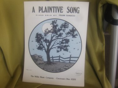 a Plaintive Song sheet music